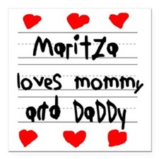 """Maritza Loves Mommy and  Square Car Magnet 3"""" x 3"""""""