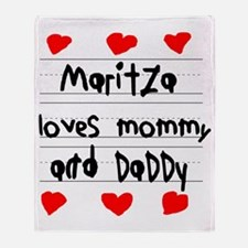 Maritza Loves Mommy and Daddy Throw Blanket