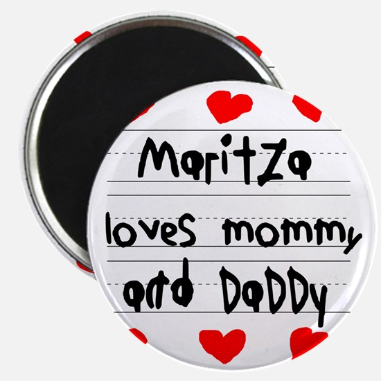Maritza Loves Mommy and Daddy Magnet