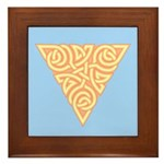 Sunny Triangle Knot Framed Tile
