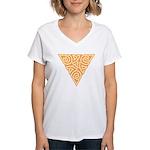 Sunny Triangle Knot Women's V-Neck T-Shirt