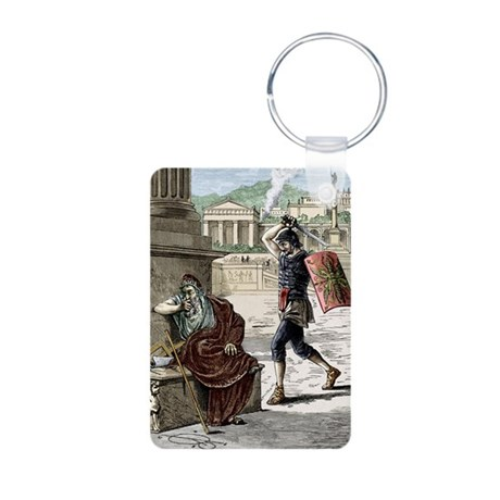 Death of Archimedes in sac Aluminum Photo Keychain