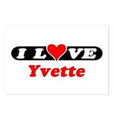 I Love Yvette Postcards (Package of 8)