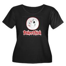 Funny Women's poker T