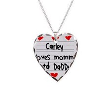 Carley Loves Mommy and Daddy Necklace