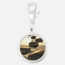 Step Stones Silver Round Charm