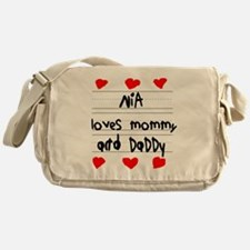 Nia Loves Mommy and Daddy Messenger Bag