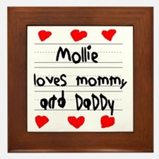 Mollie Loves Mommy and Daddy Framed Tile