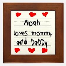 Noah Loves Mommy and Daddy Framed Tile