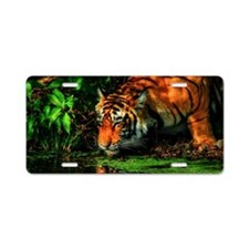 Tiger Reflection Aluminum License Plate