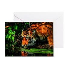 Tiger Reflection Greeting Card