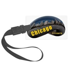 ChicagoBean_Rectangle Luggage Tag