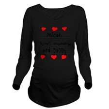 Micah Loves Mommy an Long Sleeve Maternity T-Shirt