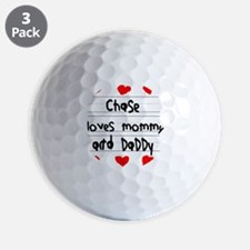 Chase Loves Mommy and Daddy Golf Ball
