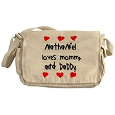 Nathaniel Loves Mommy and Daddy Messenger Bag