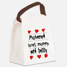 Mohamed Loves Mommy and Daddy Canvas Lunch Bag