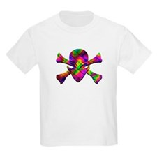 Basketweave Alien Jolly Roger T-Shirt