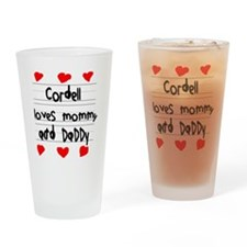 Cordell Loves Mommy and Daddy Drinking Glass