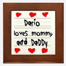 Dario Loves Mommy and Daddy Framed Tile