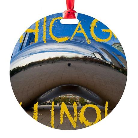 Chcago_10X8_puzzle_mousepad_Bean Round Ornament