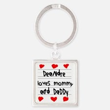 Deandre Loves Mommy and Daddy Square Keychain