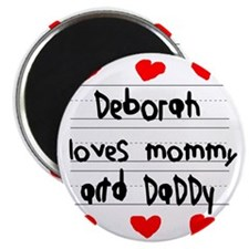 Deborah Loves Mommy and Daddy Magnet