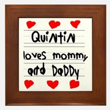 Quintin Loves Mommy and Daddy Framed Tile
