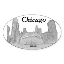 ChicagoBeanSkyline_Rectangle_Black Decal