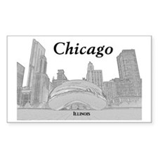 ChicagoBeanSkyline_Rectangle_B Decal
