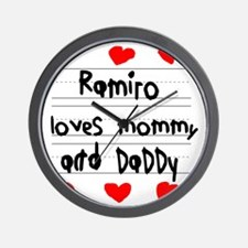 Ramiro Loves Mommy and Daddy Wall Clock