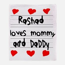 Rashad Loves Mommy and Daddy Throw Blanket