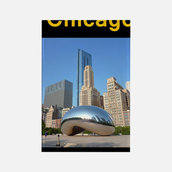 Chicago_5.5x8.5_Journal_Bean Rectangle Magnet