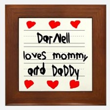 Darnell Loves Mommy and Daddy Framed Tile