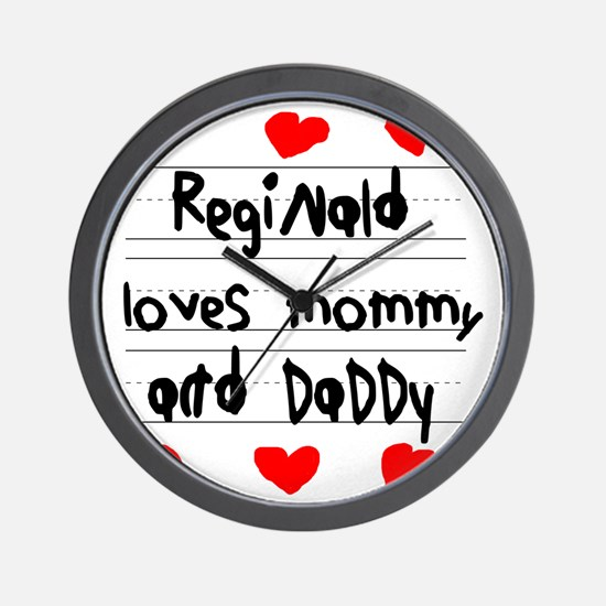 Reginald Loves Mommy and Daddy Wall Clock