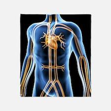 Human cardiovascular system, artwork Throw Blanket