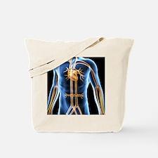 Human cardiovascular system, artwork Tote Bag