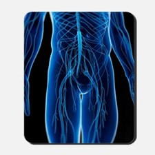 Human nervous system, artwork Mousepad