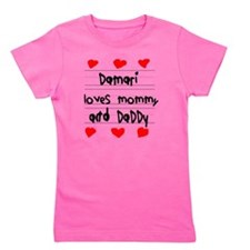 Damari Loves Mommy and Daddy Girl's Tee