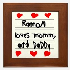Ramon Loves Mommy and Daddy Framed Tile