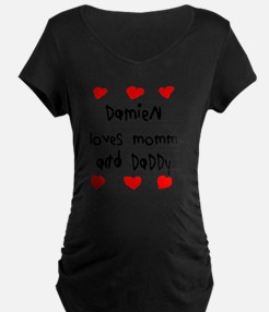 Damien Loves Mommy and Dadd T-Shirt