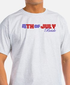 4th Of July Bride T-Shirt