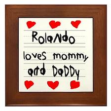 Rolando Loves Mommy and Daddy Framed Tile