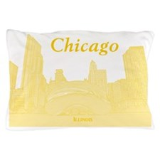 ChicagoBeanSkyline_Rectangle_Yellow Pillow Case