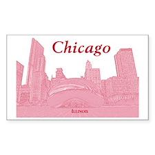 ChicagoBeanSkyline_Rectangle_R Decal