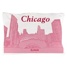 ChicagoBeanSkyline_Rectangle_Red Pillow Case