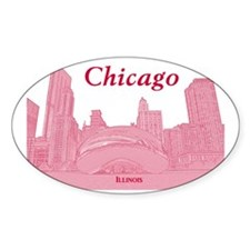 ChicagoBeanSkyline_Rectangle_Red Decal