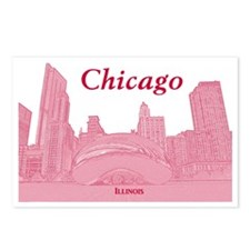 ChicagoBeanSkyline_Rectan Postcards (Package of 8)
