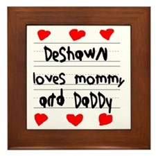 Deshawn Loves Mommy and Daddy Framed Tile