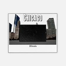 Chicago_13x13_ChicagoBeanSkyline_Bla Picture Frame