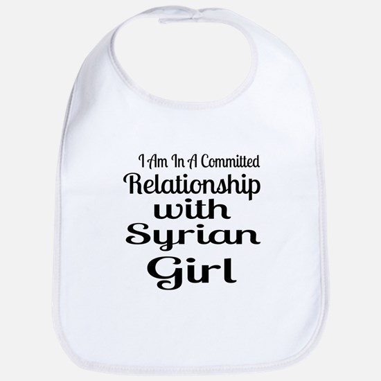I Am In Relationship With Syrian G Cotton Baby Bib